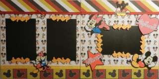 Mickey and Minnie Mouse Premade Scrapbook 12 x 12 Pages