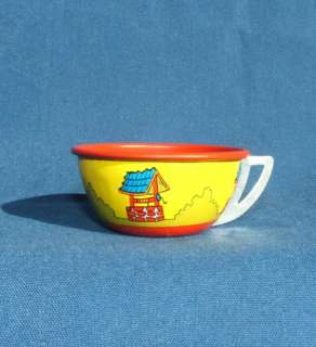 VINTAGE OHIO ART JACK AND JILL TIN LITHO TEA SET CUP