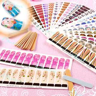 Professional Nail Art Decals Water Stickers Full Cover Tips