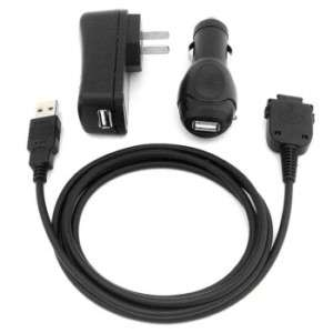 2in1 USB Cable Dell Axim X30 + USB Car + Travel Charger