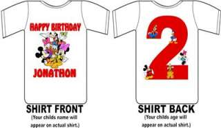 Mickey Mouse and Friends Custom Birthday Shirt