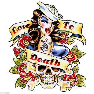 Rockabilly Tattoo Flash Pin Up T Shirt *91117 wh