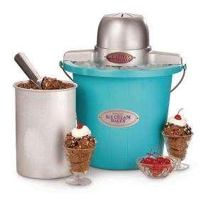 Nostalgia Electrics 4 Qt. Ice Cream Maker ICMP 400BLUE at The Home