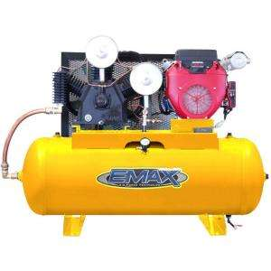 EMAX 24 HP Gas 120 Gallon Horizontal Air Compressor with Honda Engine