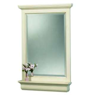 38 in. H Vanity Mirror in Antique White CTAM2838