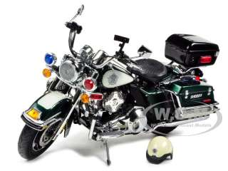 2011 HARLEY DAVIDSON FLHP ROAD KING GREEN/WHITE SHERIFF 1/12 BY