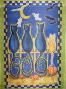 Boo Cats Decorative Halloween Large Garden Flag 746851134289