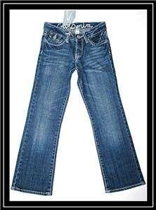 Gap ~ Girls Straight Leg Denim Blue Jeans Pants ~ Size 7 Reg NWT
