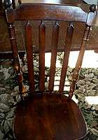 WELL USED DINING ROOM SET TABLE/4 CHAIRS/HUTCH/2 LEAVES MAPLE WOOD