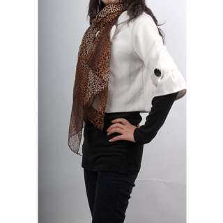 Thin Soft Fashion Leopard Women Shawl Scarf Stole Wrap