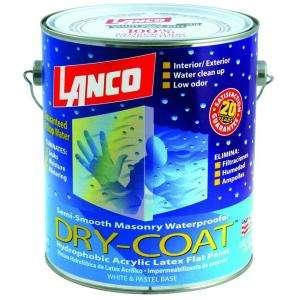 Lanco Dry Coat 1 Gallon Flat Acrylic Latex Ultra White Interior and
