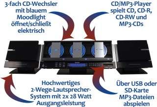 Karcher MC 6570 Musikcenter mit 3 fach CD Wechsler, CD/ Player, USB