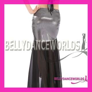 SEXY BELLY DANCE COSTUME MERMAID SKIRT GOLD SEQUIN 8CLR