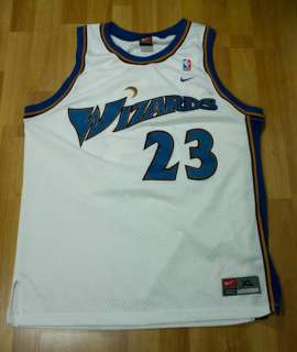 Nike Michael Air Jordan Retro WASHINGTON WIZARDS Jersey WHITE BLUE Sz