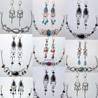 40 EARRINGS BRACELETS STONE JEWELRY PERUVIAN SETS PERU