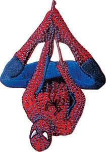 Spider Man Hanging Marvel Comics Iron On Patch SPI011