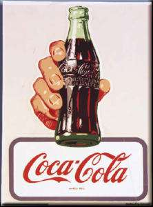 French Advert Sign   Coca Cola Coke   Contour Bottle