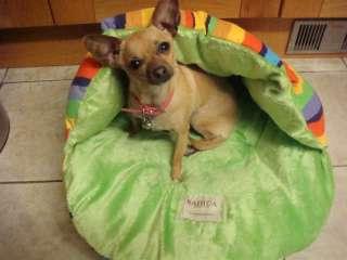 NEW Half Covered Pet Dog Cat Bed Sleeping Bag /Orange M