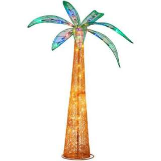 72 In. LED 70 Light Ice Sculpture Palm Tree 5561164