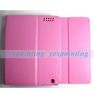 Pink Wireless Bluetooth Keyboard Leather Case Cover + USB Cable For