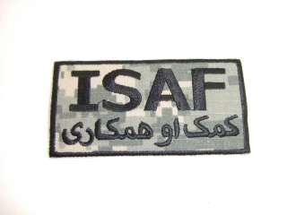 ARMY NAVY AIR FORCE ISAF PATCHES PATCH ISAF OIF OEF IRAQ AFGHANISTAN