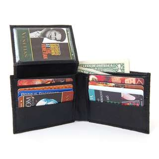 Mens Leather Wallets Ostrich Print Outer Lambskin Inside Bifold