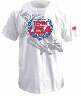 Fox Racing Team USA 2010 MXoN T Shirt Tee MXdN MX