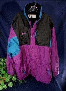 Purple, Black & Teal COLUMBIA Shell Jacket USM XL