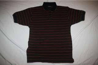 Top Flite Mens Golf Polo Shirt MED NEW Black Striped