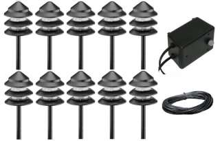 10 malibu lt13 tier landscape lighting kit w 44w transformer 50. Black Bedroom Furniture Sets. Home Design Ideas