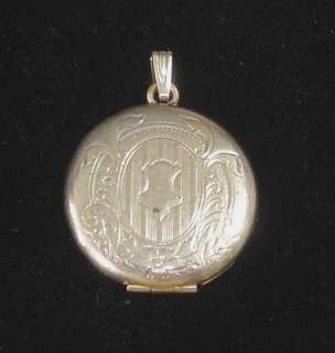Art Deco Era Silver Plated Mourning Locket With Hair Inside