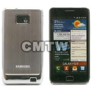BRUSHED ALUMINUM METAL HARD CASE COVER SHELL FOR AT&T SAMSUNG GALAXY