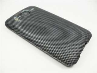 HTC INSPIRE 4G AT&T CARBON FIBER LOOK HARD COVER CASE