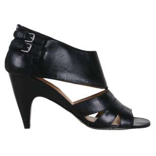 Nine West Womens Sandals Taylorfo Black Leather Heels