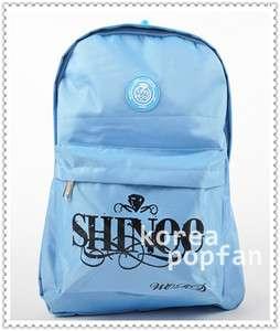 SHINEE S.H.W KPOP BLUE SCHOOLBAG BACKPACK BAG NEW