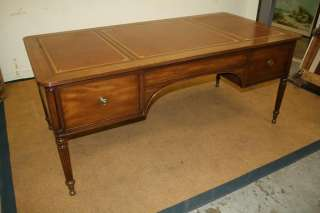 KITTINGER French walnut antique STYLE vintage executive office table