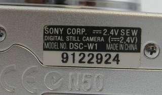 SONY Cyber shot DSC W1 5.1 MP Digital Camera ASIS NOBOX 027242649057