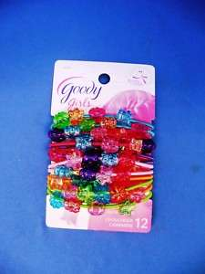 Goody Girls 12pk Multi Colored Ponytailers Charms 32033