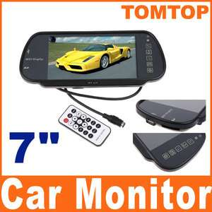 TFT LCD Color Car Rearview Monitor W/ SD USB MP5 FM