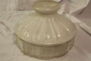 ORIGINAL CLEAN Aladdin 11 Oil Lamp Shade White Top with Glass Clear