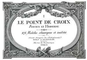 Point Croix #1 c.1916 French Cross Stitch Design Book