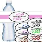 100 Personalized Wedding or Anniversary Water Bottle Labels Waterproof