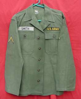 US ARMY 24TH INFANTRY DIVISION FATIGUE UNIFORM JACKET W/ PATCHES