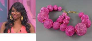 Mesh Ball Earrings Jennifer Evelyn Basketball Wives Poparazzi