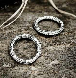 100 Tibetan Silver Olympic Rings Charms Pendants TS0235