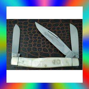 CREEK RATTLER CRACKED ICE STOCKMAN KNIFE HAND MADE SOLINGEN GERMANY