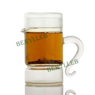 Clear Glass Office Teapot With Infuser & Lid 230ml