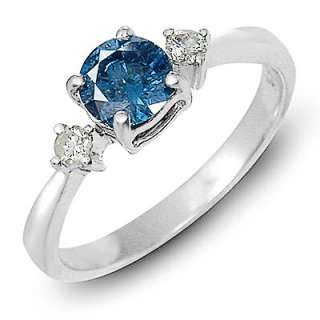 60 Ct Mesmerizing Blue & White Diamond Ring,14K Gold