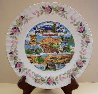Vintage Creative Fine China Japan Colorado Pink Roses Plate #2345 NICE