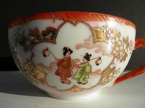 Antique Japanese FINE Porcelain Handpainted Tea Cups